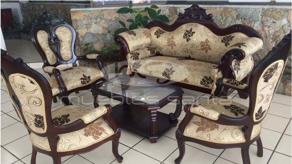 Sala effor muebles santa for Juego de mesa y sillas esquineros