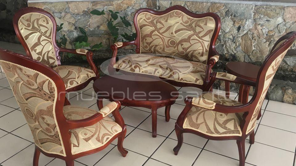 Sala isabelina muebles santa for Juego de sala precios