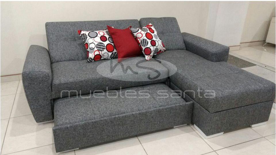 Sofacama alem n muebles santa for Salas con sofa cama